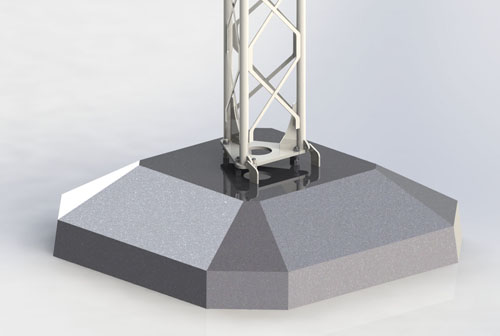 ukkosmasto betoniperustus